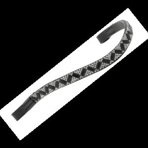 HG pannband stenar silver/svart