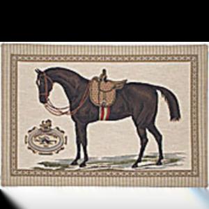 Kudde med häst frihets dressyr