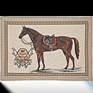 Kudde med häst hopp